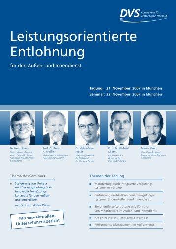Leistungsorientierte Entlohnung - Kliemt & Vollstädt