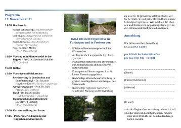 Lübbenau Einladung Regional offiziell - Klima-Bob