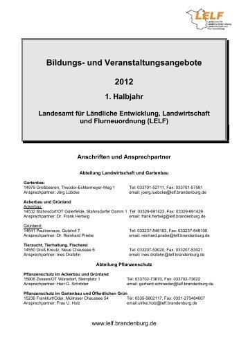 Bildungs- und Veranstaltungsangebote 2012 - LELF - Brandenburg.de