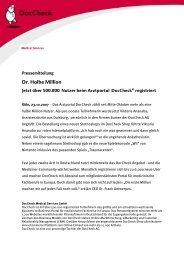 Die Gesundheitsreform - das unbekannte Wesen - DocCheck AG