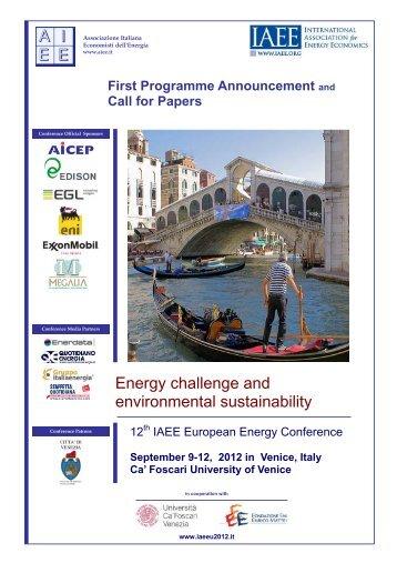 Energy challenge and environmental sustainability - Klima Regional