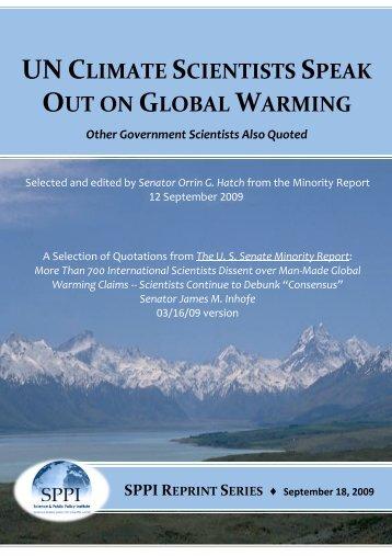 un climate scientists speak out on global warming - Klima-Schwindel