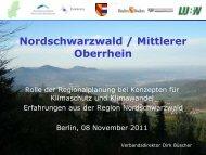 Rolle der Regionalplanung bei Konzepten für ... - KlimaMORO