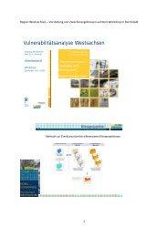 Vulnerabilitätsanalyse Westsachsen - KlimaMORO