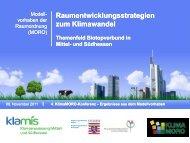 Themenfeld Biotopverbund in Mittel- und Südhessen - KlimaMORO
