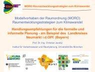 Handlungsempfehlungen für die formelle und ... - KlimaMORO