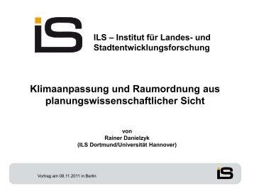 Prof. Dr. Rainer Danielzyk - KlimaMORO