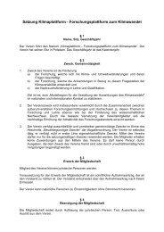 Satzung des Vereins der außeruniversitären ...