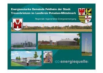 Energieautarke Gemeinde Feldheim