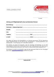 Antrag auf Mitgliedschaft einer juristischen Person