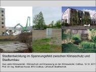 Stadtentwicklung im Spannungsfeld zwischen Klimaschutz und ...