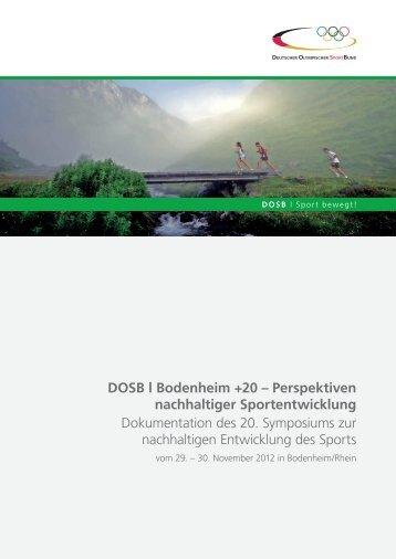 Bodenheim + 20 – Perspektiven nachhaltiger Sportentwicklung
