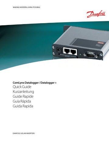 Comlynx Datalogger Quick Guide - Danfoss
