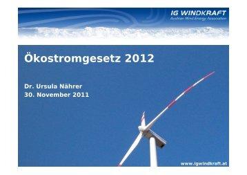 Ökostromgesetz 2012 - Übersichtskarte der Klima- und Energie ...