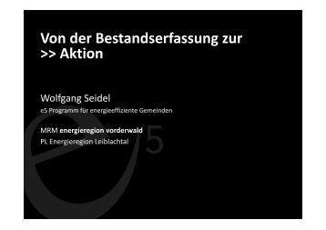 Von der Bestandserfassung zur >> Aktion - Übersichtskarte der ...