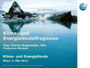 Patrick Wagenhofer, Klima-und Energiefonds