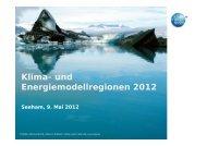 Klima- und Energiemodellregionen 2012 - Übersichtskarte der ...