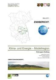 und Energie - Übersichtskarte der Klima- und Energie-Modellregionen