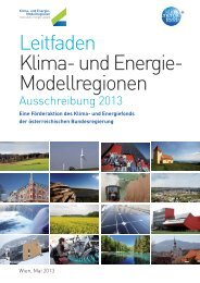Leitfaden Klima- und Energie- Modellregionen Ausschreibung 2013