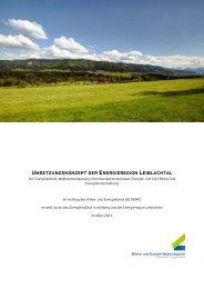 umsetzungskonzept der energieregion leiblachtal - Übersichtskarte ...