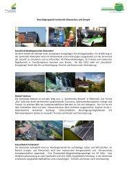 Liste der Ausflugsziele - Übersichtskarte der Klima- und Energie ...