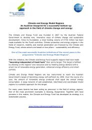 Climate and Energy Model Regions An Austrian blueprint for a ...