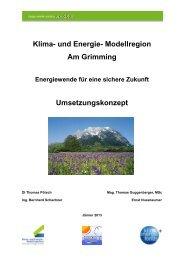 Umsetzungskonzept - Ãœbersichtskarte der Klima- und Energie ...