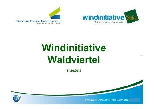 Windinitiative Waldviertel - Übersichtskarte der Klima- und Energie ...
