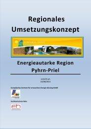 Umsetzungskonzept Energieregion Pyhrn-Priel 20110819