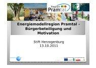 Energiemodellregion Pramtal - Übersichtskarte der Klima- und ...