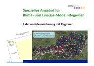 Spezielles Angebot für Klima- und Energie-Modell-Regionen
