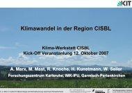 Klimawandel in der Region CISBL - Klima-Werkstatt