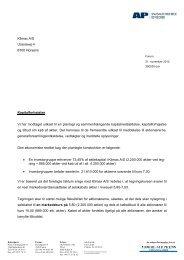 Klimax A/S Uraniavej 4 8700 Horsens Kapitalforhøjelse Vi har ...