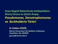 Pseudomonas, Stenotrophomonas ve Burkholderia Türleri - Klimik