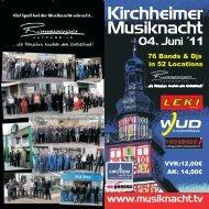 Programmheft Kirchheimer Musiknacht 2011