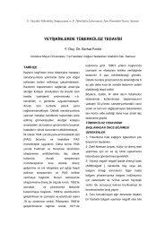 Yetişkinlerde tüberküloz tedavisi (Serhat Fındık) - Klimik