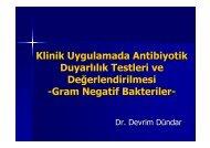 Klinik Uygulamada Antibiyotik Duyarlılık Testleri ve ... - Klimik