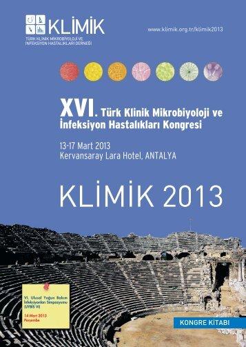 XVI. Türk Klinik Mikrobiyoloji ve İnfeksiyon Hastalıkları - Klimik