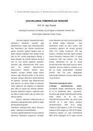 Çocuklarda tüberküloz tedavisi (Uğur Özçelik) - Klimik