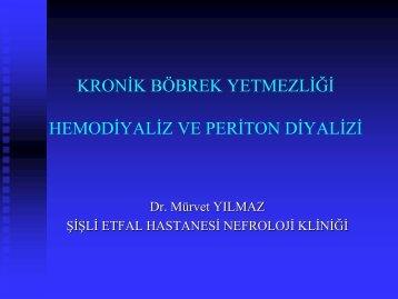 kronik böbrek yetersizliği, hemodiyaliz ve periton diyalizi - Klimik