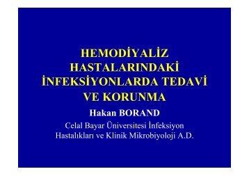 Hemodiyaliz Hastalarında İnfeksiyonlar - Klimik