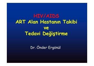HIV/AIDS ART Alan Hastanın Takibi ve Tedavi Değiştirme - Klimik