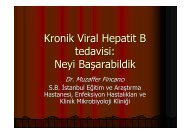 Kronik Viral Hepatit B tedavisi: Neyi Başarabildik - Klimik