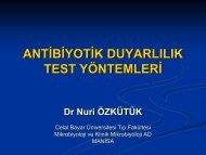 Antibiyotik duyarlılık test yöntemleri - Klimik
