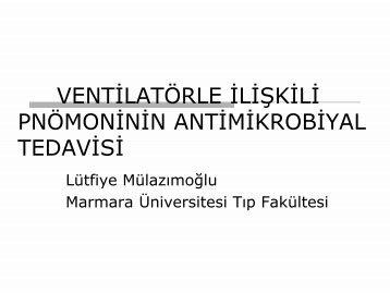 VENTİLATÖRLE İLİŞKİLİ PNÖMONİ-TEDAVİ - Klimik