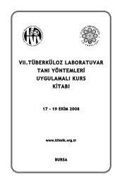 II. Tüberküloz Lab. Tanı Yöntemleri Uyg. Kurs Kitabı - Klimik