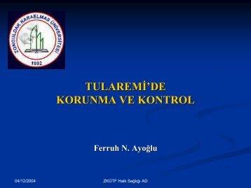 Tularemi: Ä°nanlarda Korunma ve Kontrol - Klimik