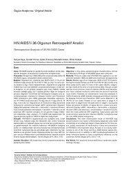 HIV/AIDS'li 36 Olgunun Retrospektif Analizi - Klimik Dergisi