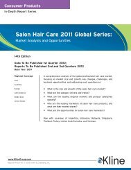 Salon Hair Care 2011 Global Series - Kline & Company