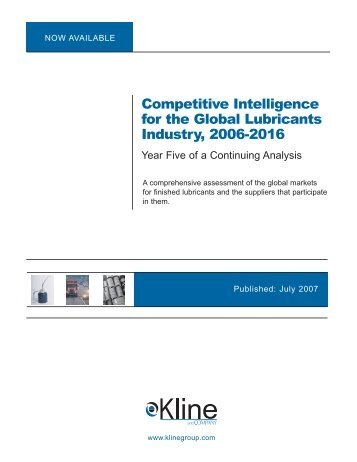 Competitive Intelligence for the Global ... - Kline & Company
